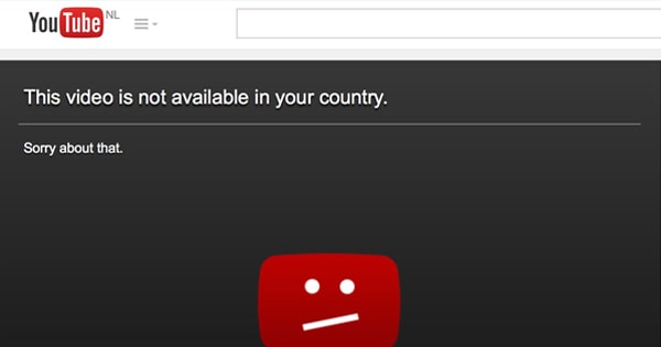 VPN : La vidéo Youtube bloquée