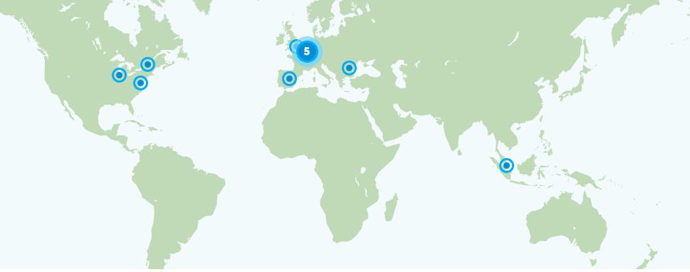 Localisations des serveurs ActiVPN