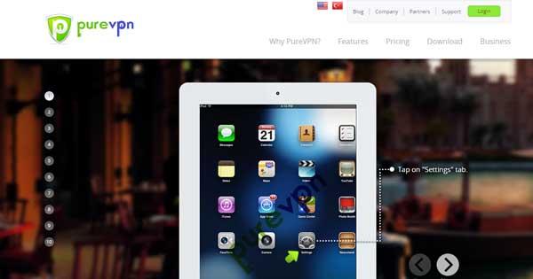 Application iPad PureVPN