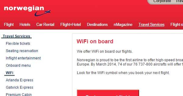 Le Wi-Fi dans les avions avec un VPN