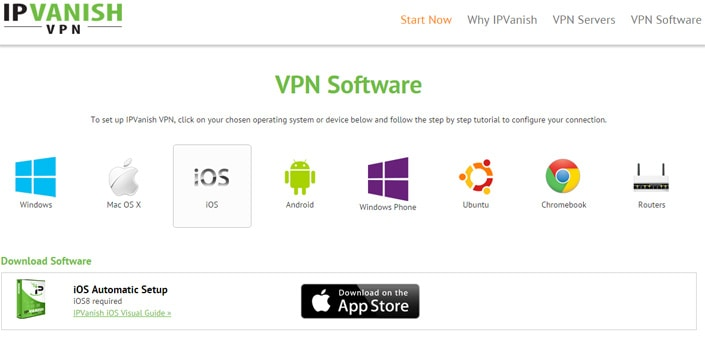 IPVanish sur mobile : iOS, Android et Windows Phone