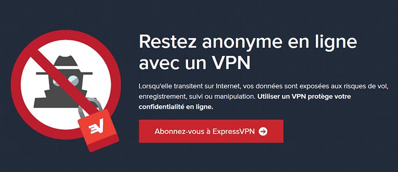 Anonymat en ligne avec ExpressVPN