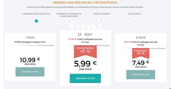 VPN gratuit HideMyAss