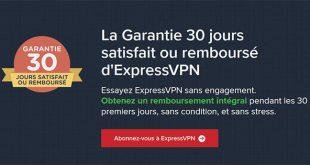 Garantie satisfait remboursé ExpressVPN