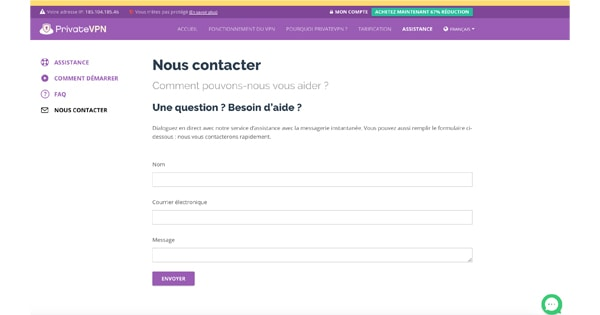 Contact PrivateVPN