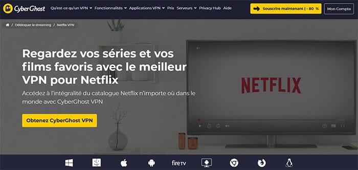 CyberGhost sur Netflix