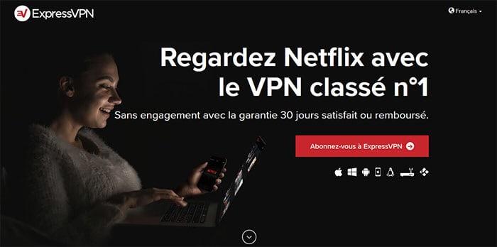 ExpressVPN avec Netflix