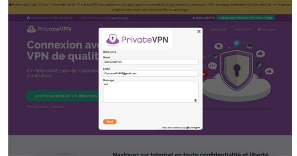 Support client PrivateVPN