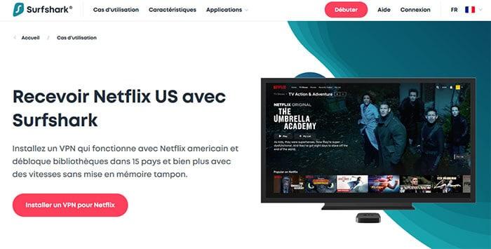 Surfshark sur Netflix