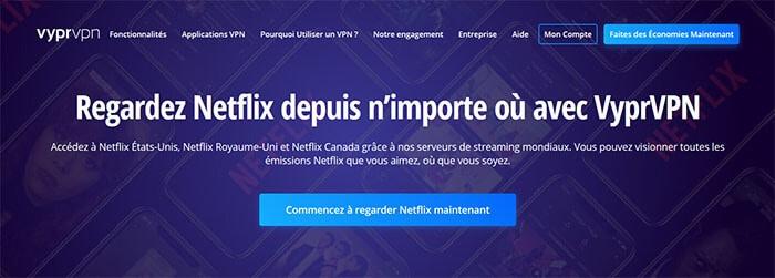 VyprVPN sur Netflix