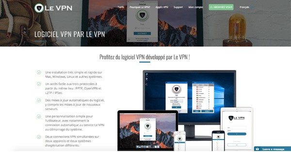Applications Le VPN