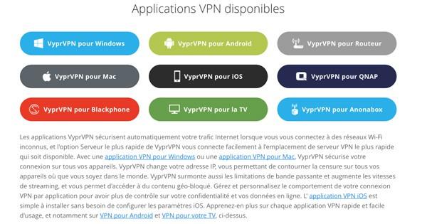 Applications VyprVPN