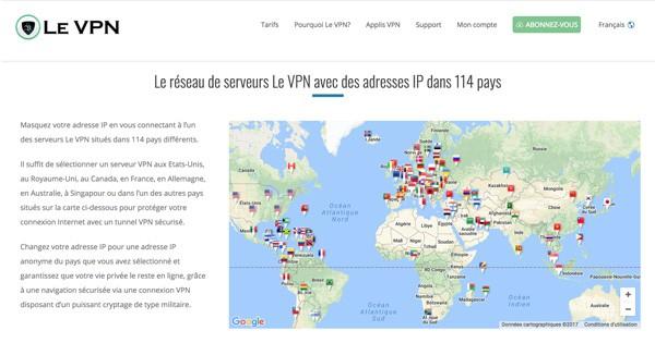Serveurs Le VPN