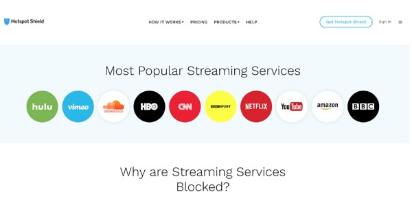 Streaming HotSpot Shield