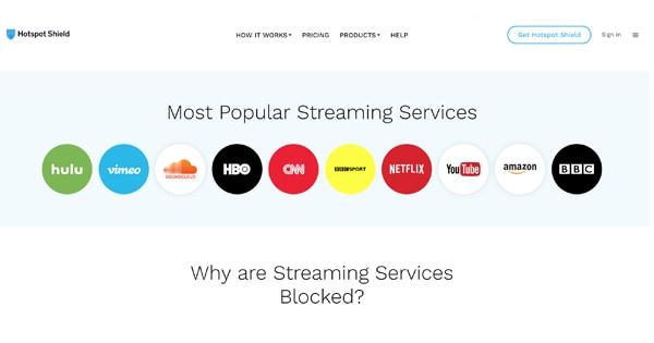 Streaming HotSpot Shield