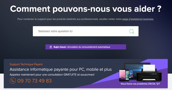 Support client Avast Secureline