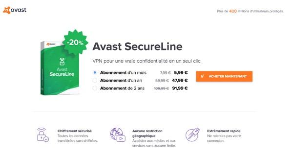 Promo avast secureline VPN
