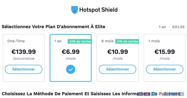 Satisfait remboursé Hotspot Shield