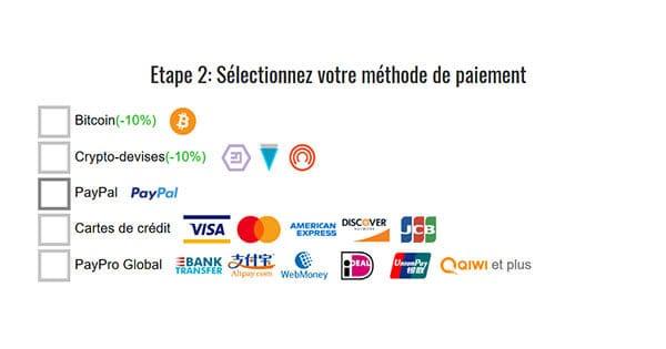 Moyens de paiement Trust.Zone