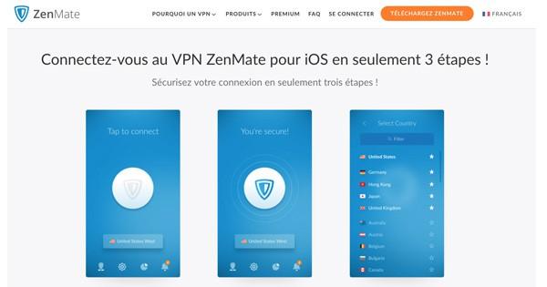 VPN ios Zenmate