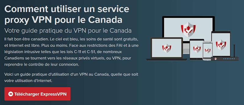 VPN pour le Canada ExpressVPN