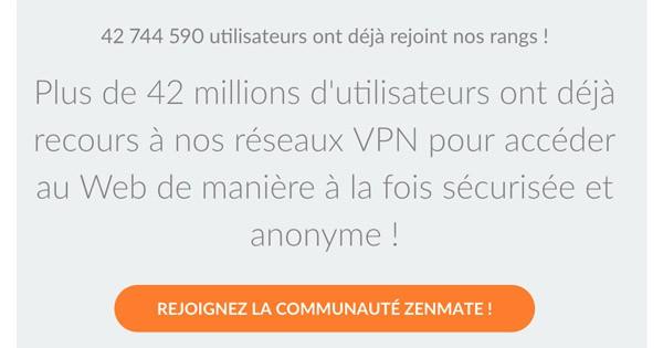 Zenmate 42 millions