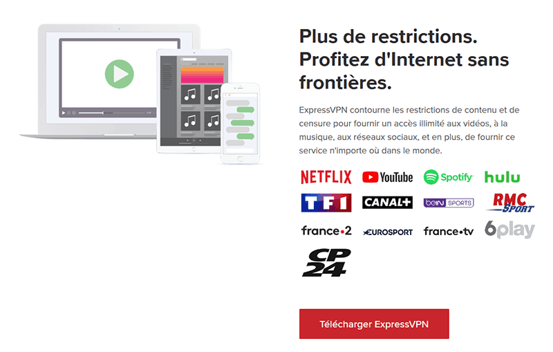 ExpressVPN et le streaming