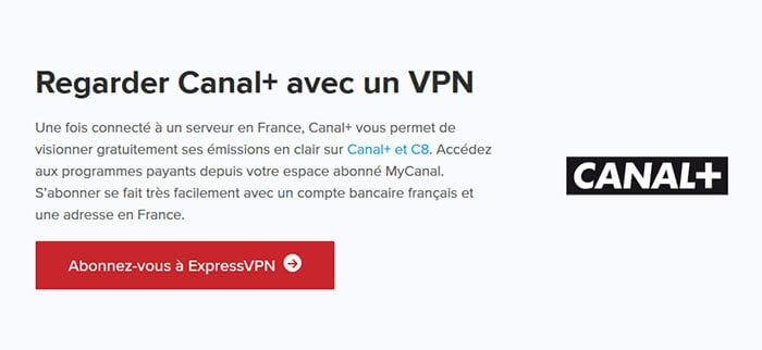 Canal+ ExpressVPN