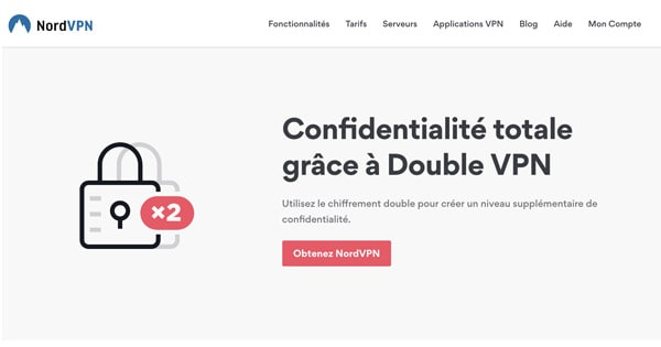 NordVPN kettős VPN