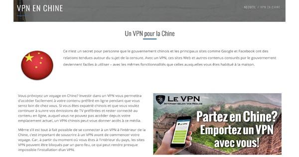 Le VPN en Chine