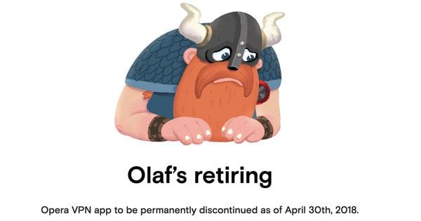 Opera VPN gratuit terminé