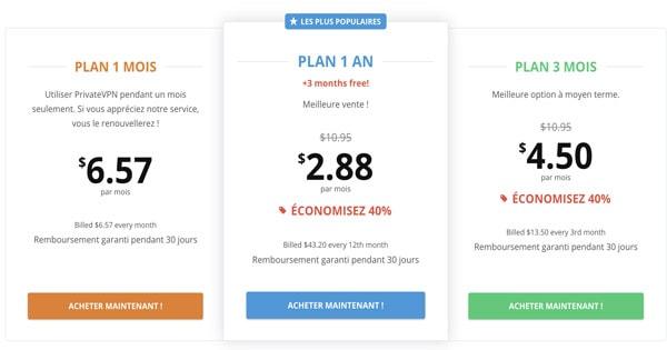 VPN pas cher 1 mois