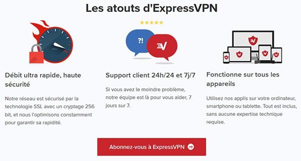 Atouts ExpressVPN