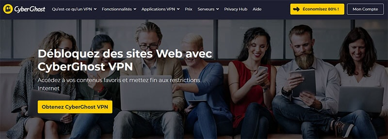 Feloldja a webhely blokkolását a CyberGhost segítségével