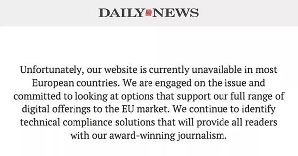 RGPD site bloqué