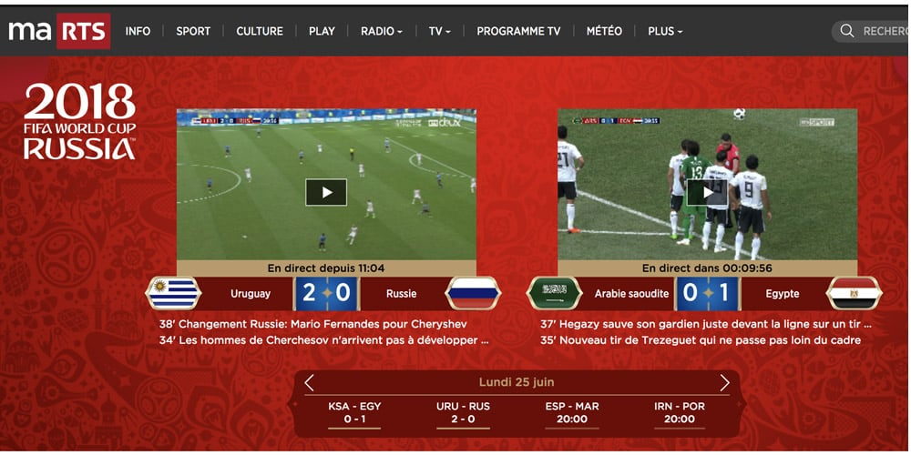 RTS Sport Streaming