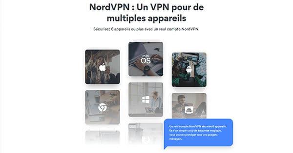 NordVPN connexions simultanées