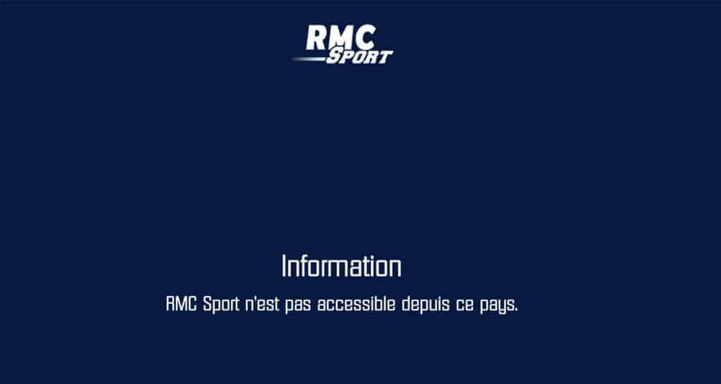 Erreur RMC Sport