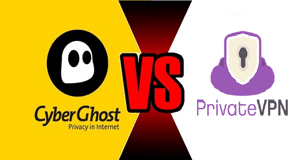 CyberGhost VS PrivateVPN