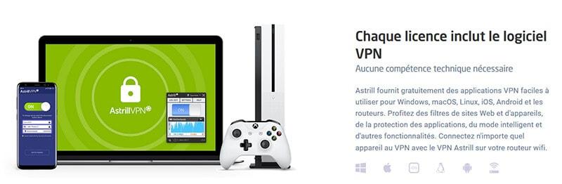 Astrill aplikace VPN