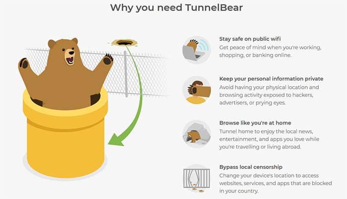 Pourquoi TunnelBear
