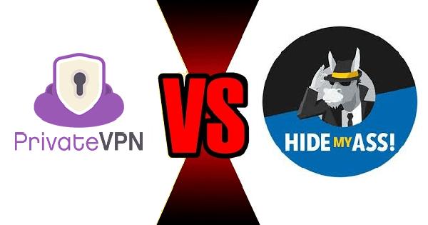 PrivateVPN vs HideMyAss
