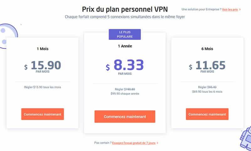 Prix Astrill VPN