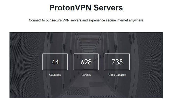 ProtonVPN szerverek