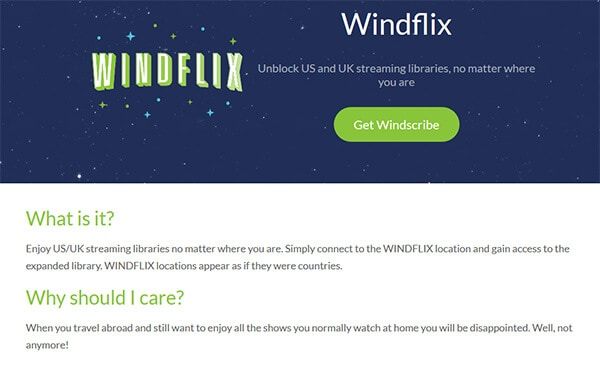 Windflix-Windscribe