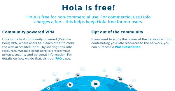Services Hola VPN