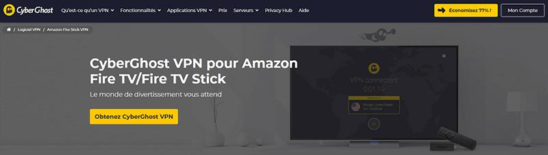 Amazon Fire TV Stick CyberGhost