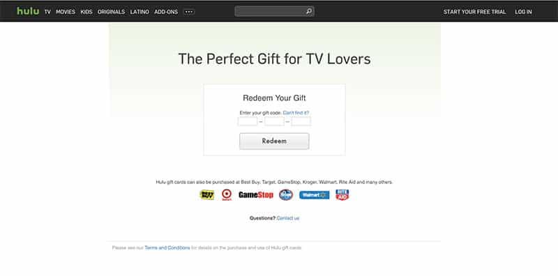 Hulu Giftcard