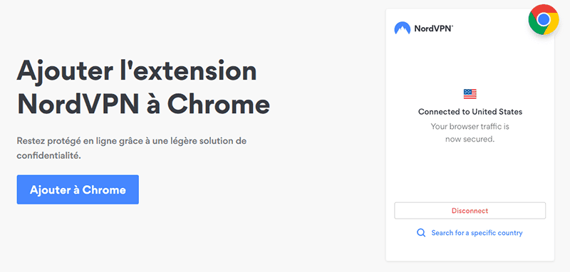 Extension Chrome NordVPN