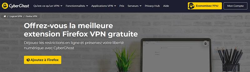 Firefox CyberGhost VPN